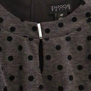 Enfocus Studio Dresses - 🔴 4/$10 ENFOCUS SZ 4P Grey/Black Polkadot Dress